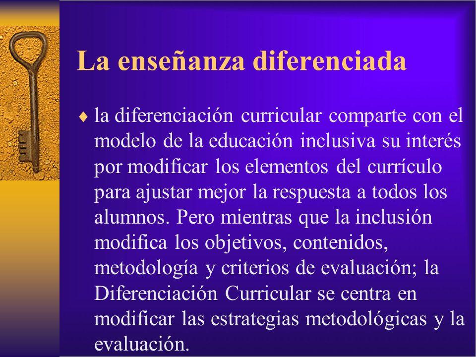 La enseñanza diferenciada
