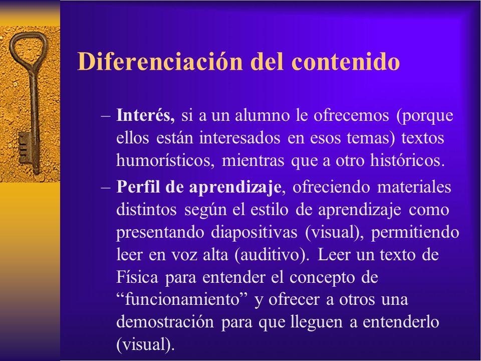 Diferenciación del contenido