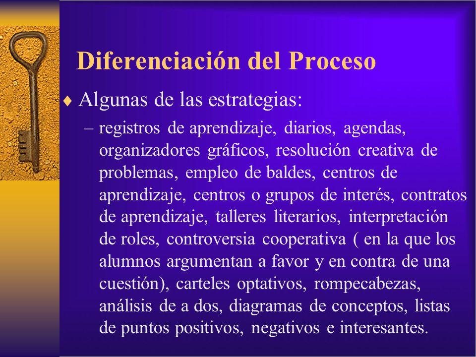 Diferenciación del Proceso
