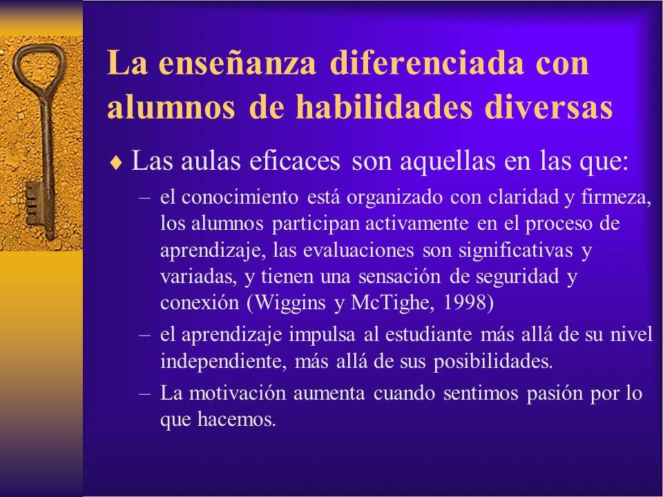 La enseñanza diferenciada con alumnos de habilidades diversas
