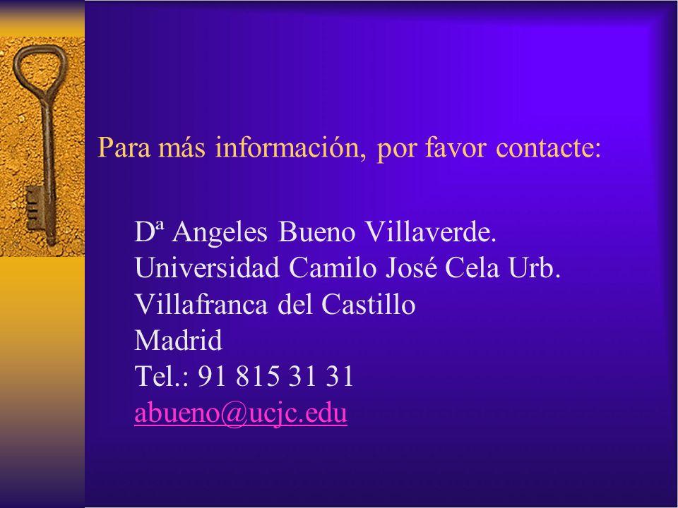 Para más información, por favor contacte: