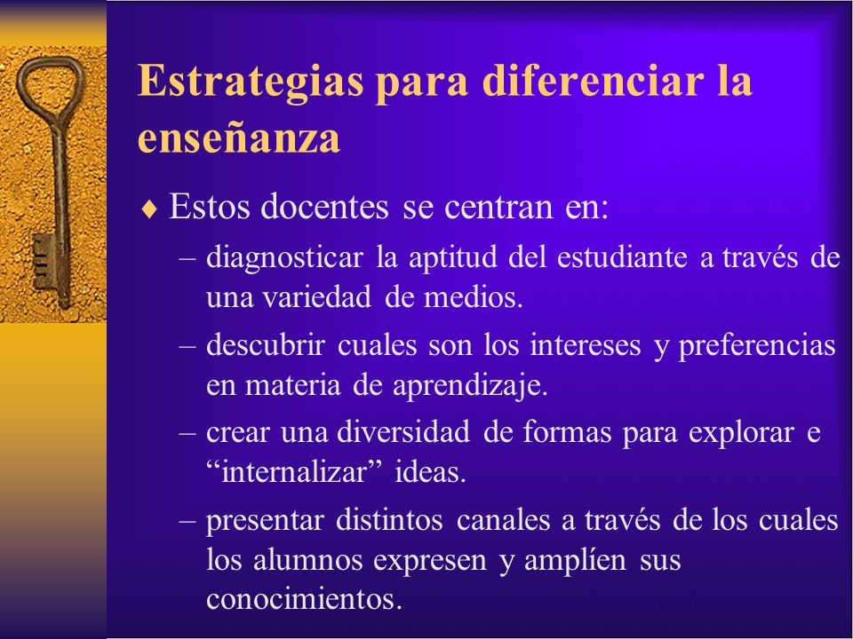 Estrategias para diferenciar la enseñanza