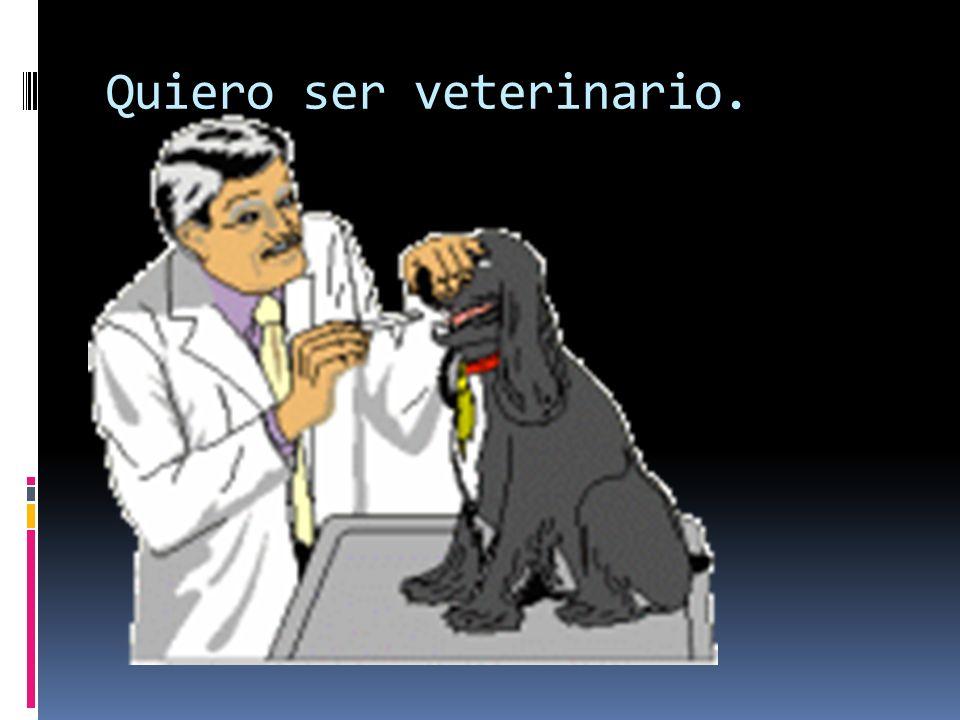 Quiero ser veterinario.