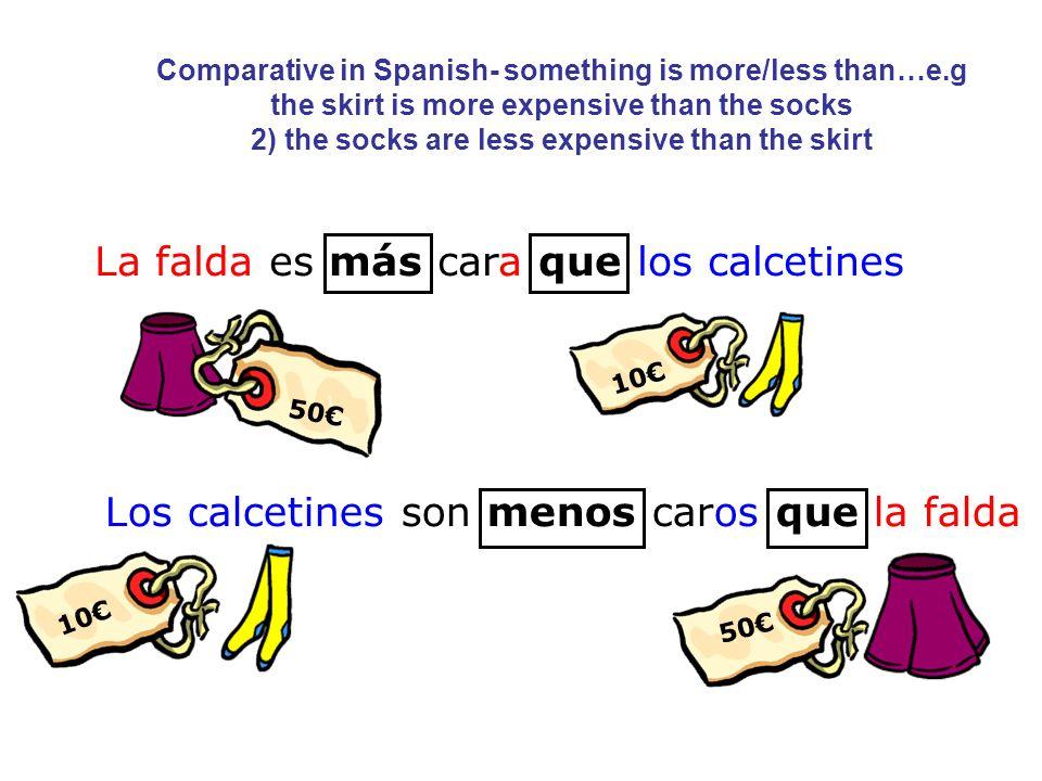La falda es más cara que los calcetines