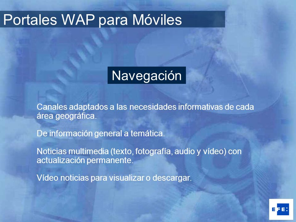 Portales WAP para Móviles