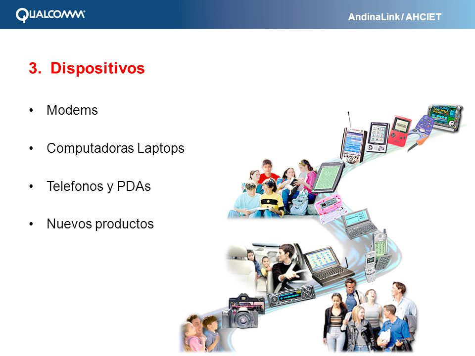 3. Dispositivos Modems Computadoras Laptops Telefonos y PDAs