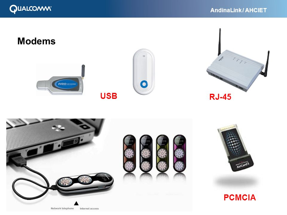Modems USB RJ-45 PCMCIA