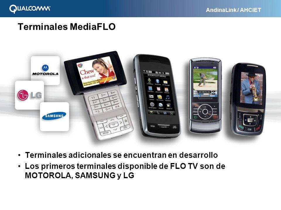 Terminales MediaFLO Terminales adicionales se encuentran en desarrollo
