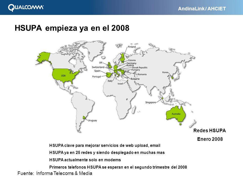 HSUPA empieza ya en el 2008 Redes HSUPA Enero 2008