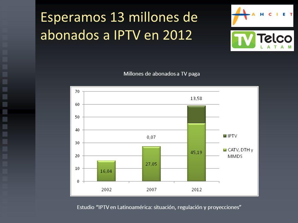 Esperamos 13 millones de abonados a IPTV en 2012