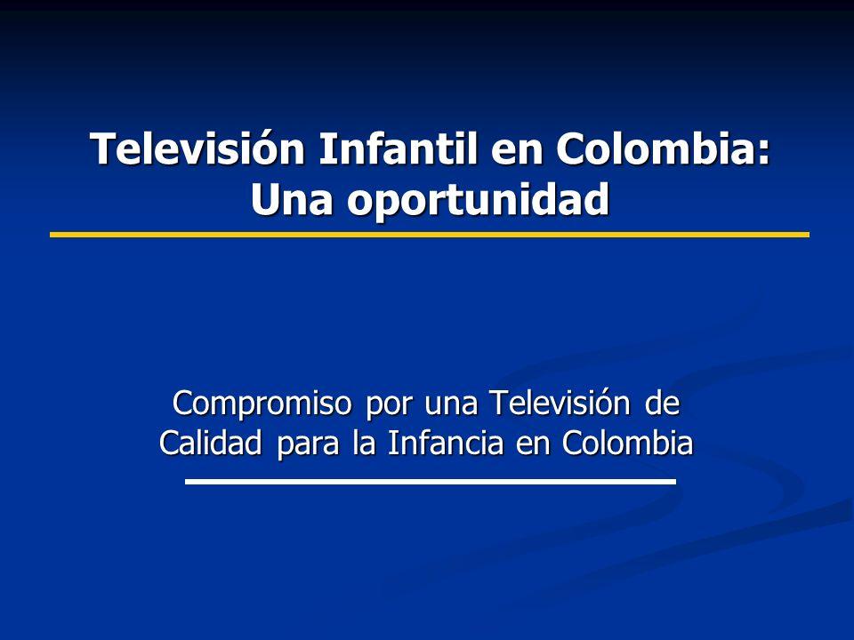 Televisión Infantil en Colombia: Una oportunidad