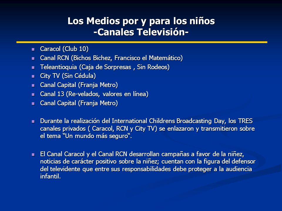 Los Medios por y para los niños -Canales Televisión-