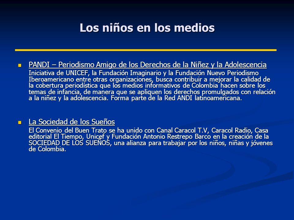 Los niños en los medios PANDI – Periodismo Amigo de los Derechos de la Niñez y la Adolescencia.