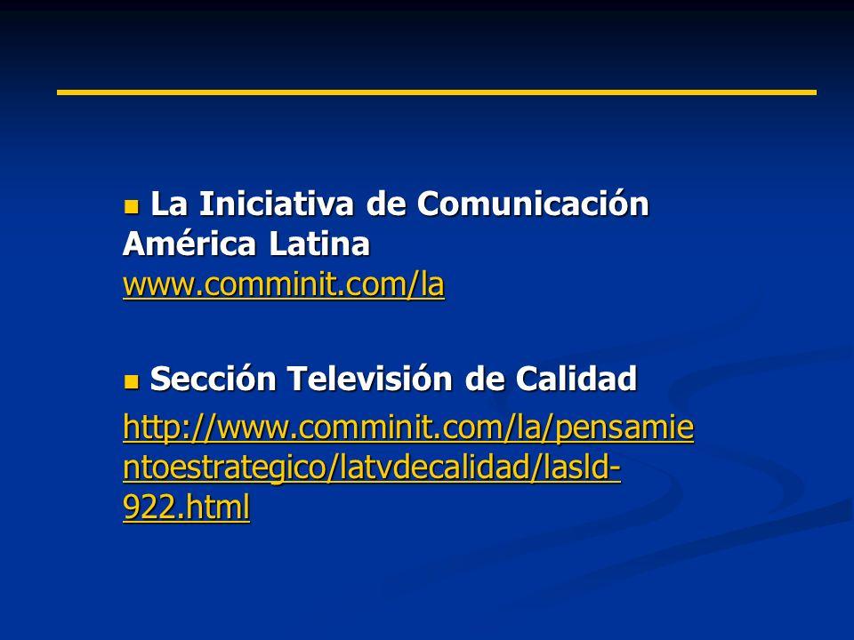 La Iniciativa de Comunicación América Latina www.comminit.com/la