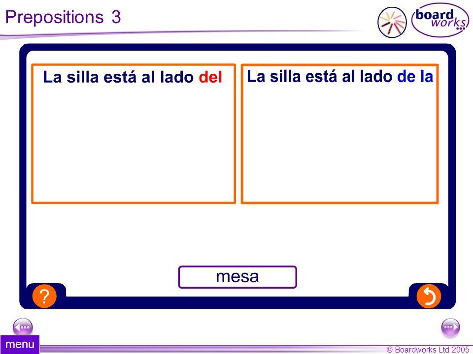 Prepositions 3 menu