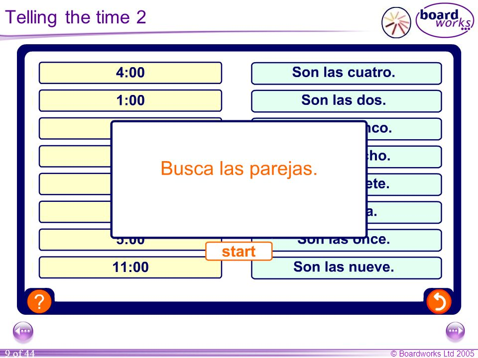Telling the time 2 Pupils match times to expressions.