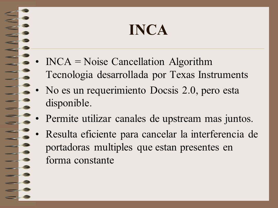 INCA INCA = Noise Cancellation Algorithm Tecnologia desarrollada por Texas Instruments.