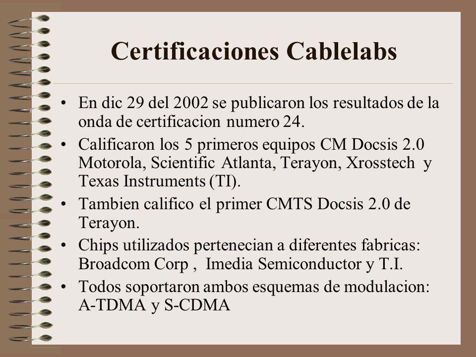 Certificaciones Cablelabs