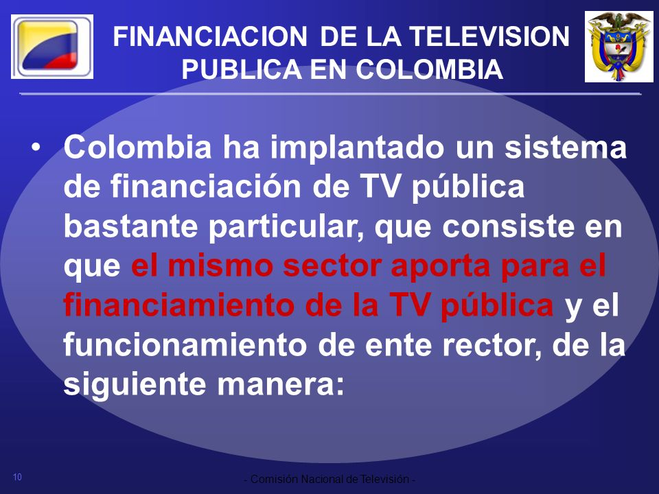 FINANCIACION DE LA TELEVISION PUBLICA EN COLOMBIA