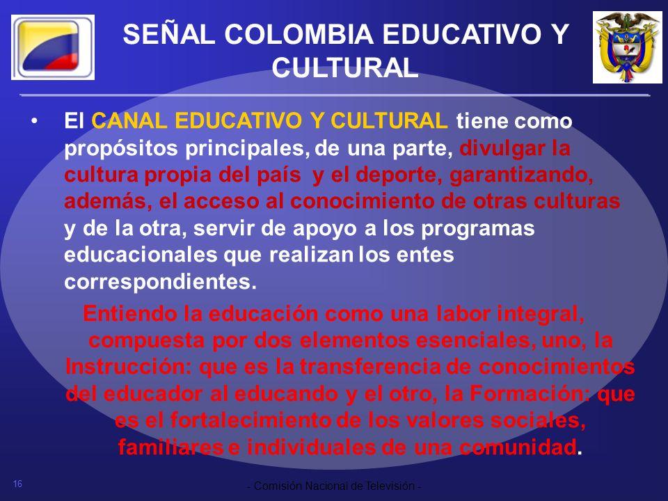 SEÑAL COLOMBIA EDUCATIVO Y CULTURAL