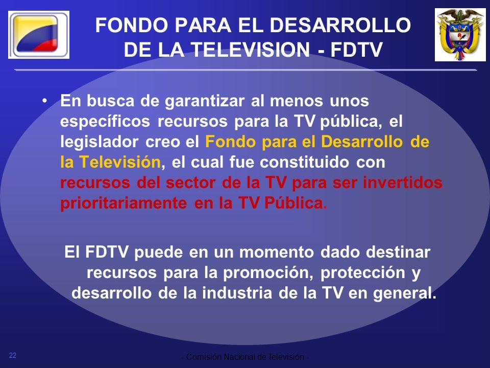 FONDO PARA EL DESARROLLO DE LA TELEVISION - FDTV