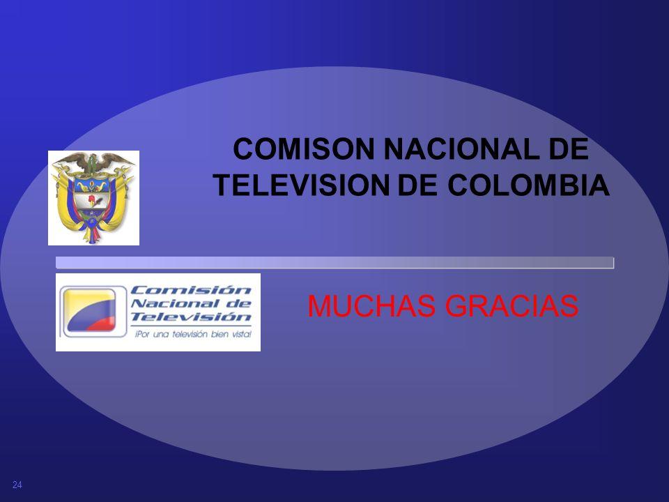COMISON NACIONAL DE TELEVISION DE COLOMBIA