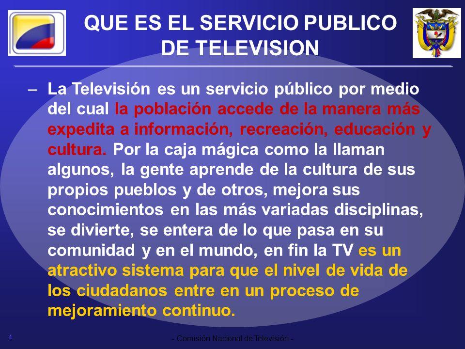 QUE ES EL SERVICIO PUBLICO DE TELEVISION