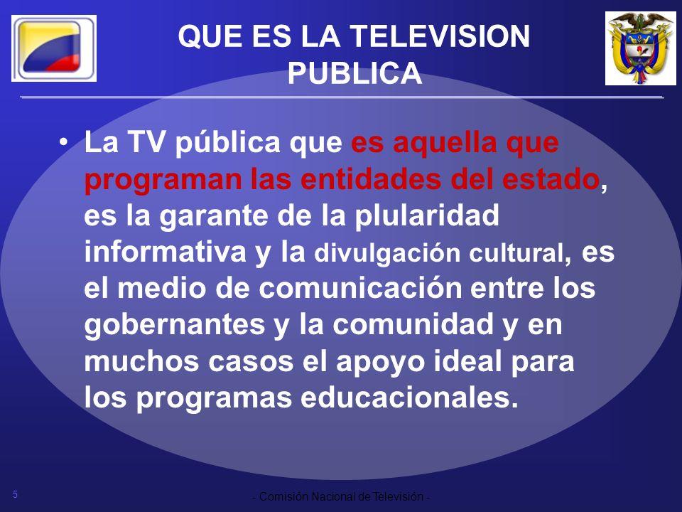 QUE ES LA TELEVISION PUBLICA