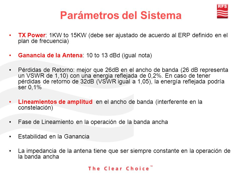 Parámetros del Sistema