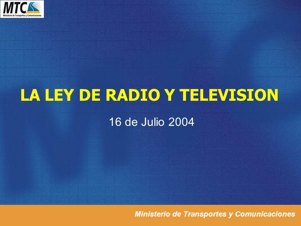 LA LEY DE RADIO Y TELEVISION