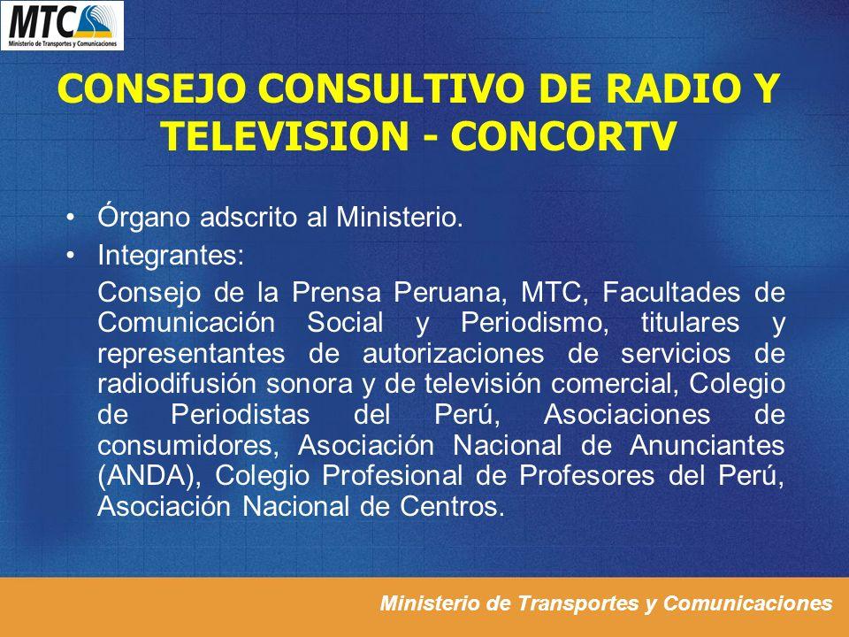 CONSEJO CONSULTIVO DE RADIO Y TELEVISION - CONCORTV