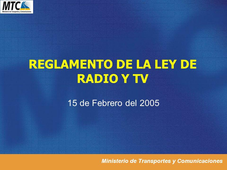 REGLAMENTO DE LA LEY DE RADIO Y TV
