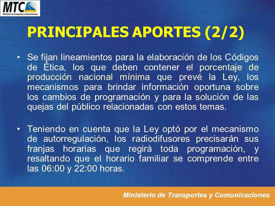 PRINCIPALES APORTES (2/2)