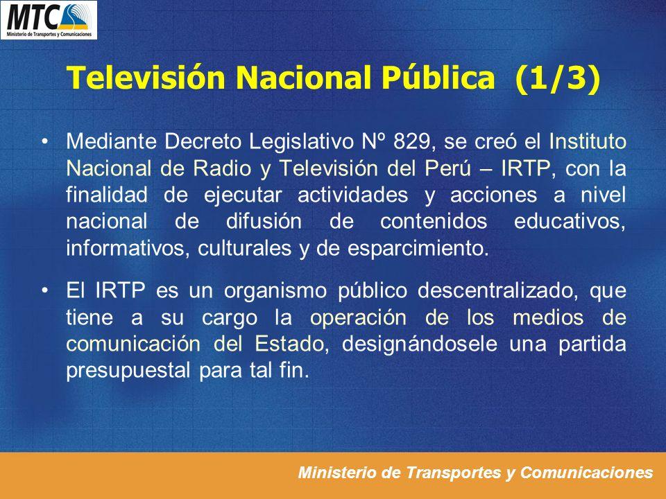 Televisión Nacional Pública (1/3)