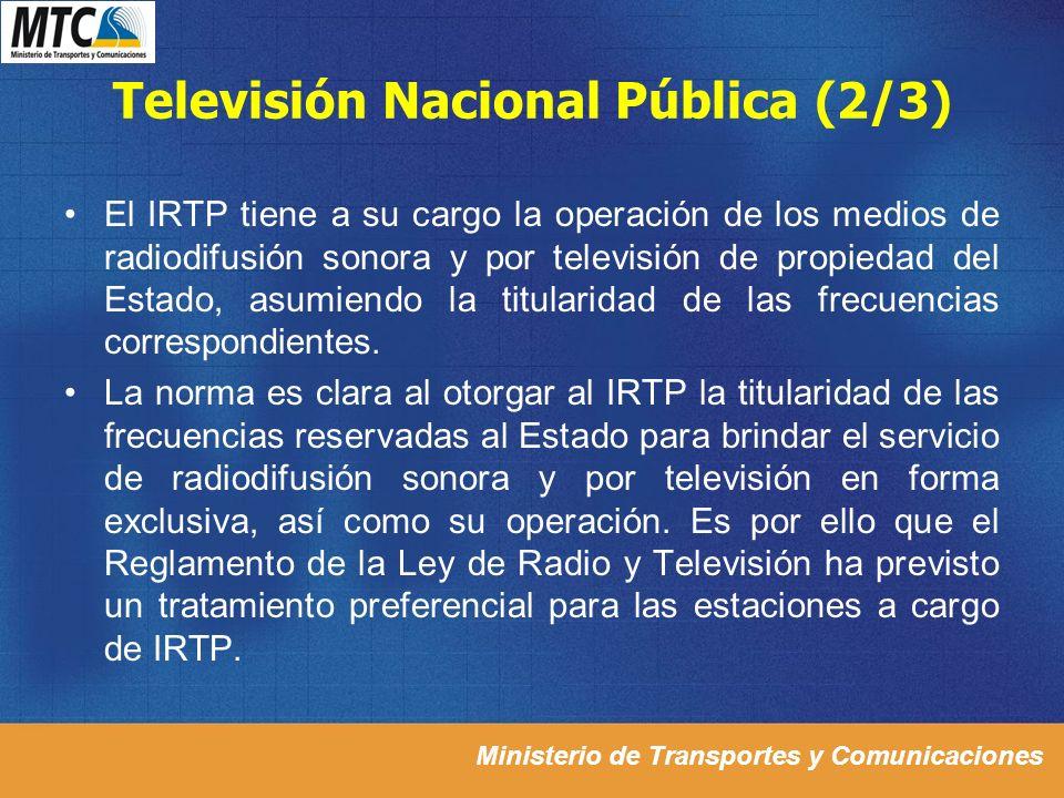 Televisión Nacional Pública (2/3)