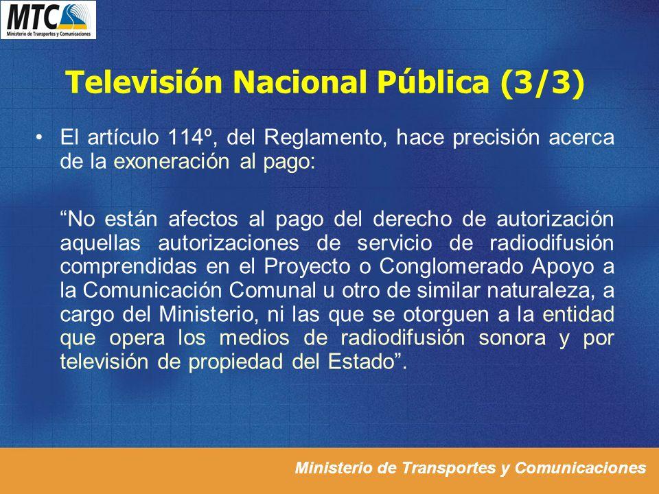 Televisión Nacional Pública (3/3)