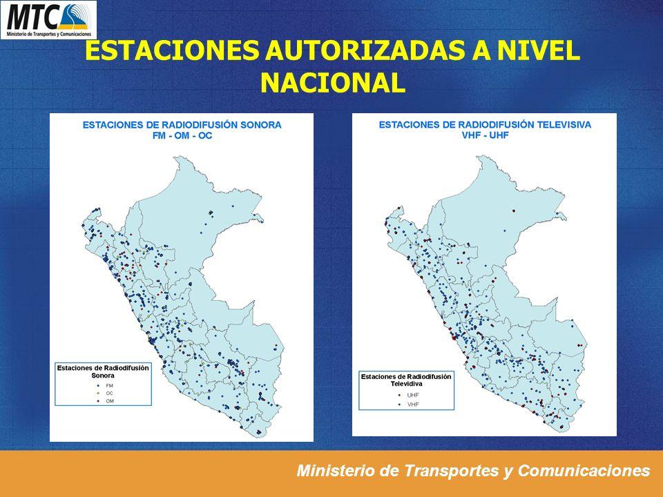 ESTACIONES AUTORIZADAS A NIVEL NACIONAL