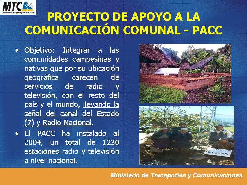 PROYECTO DE APOYO A LA COMUNICACIÓN COMUNAL - PACC