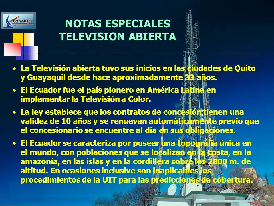 NOTAS ESPECIALES TELEVISION ABIERTA