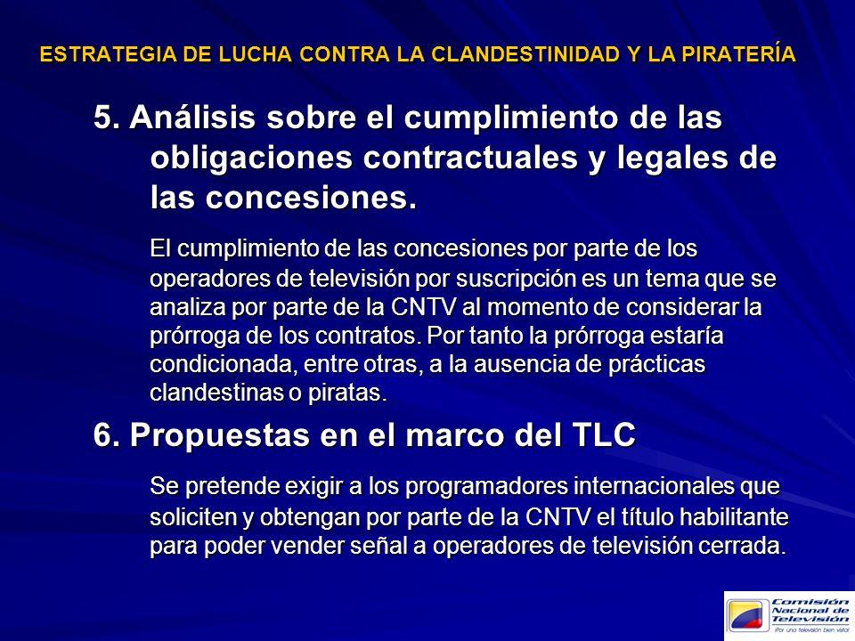 ESTRATEGIA DE LUCHA CONTRA LA CLANDESTINIDAD Y LA PIRATERÍA