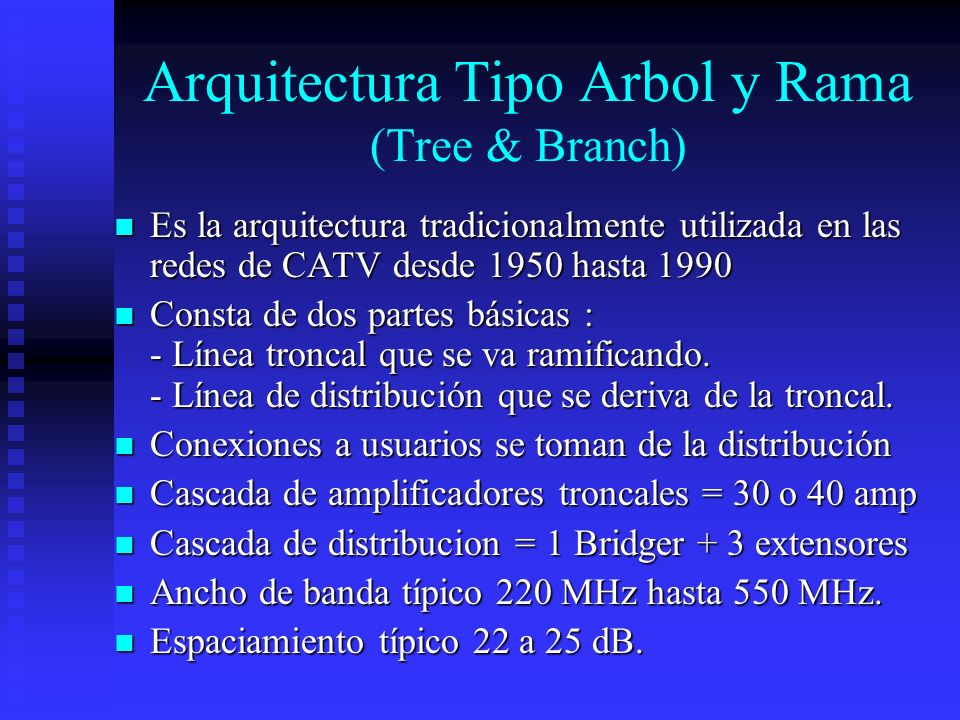Arquitectura Tipo Arbol y Rama (Tree & Branch)