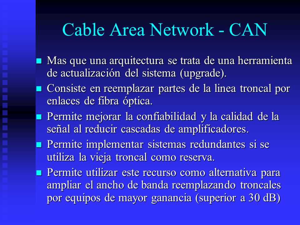 Cable Area Network - CAN