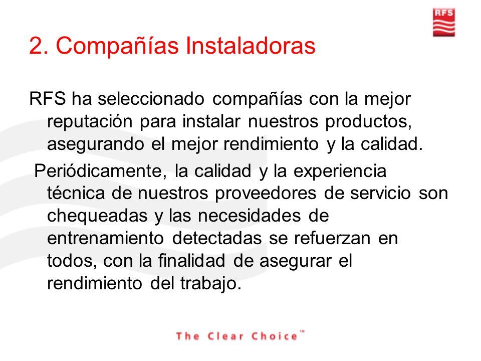 2. Compañías Instaladoras