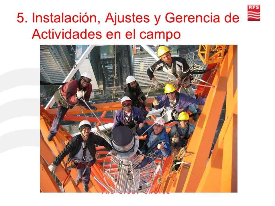 5. Instalación, Ajustes y Gerencia de Actividades en el campo