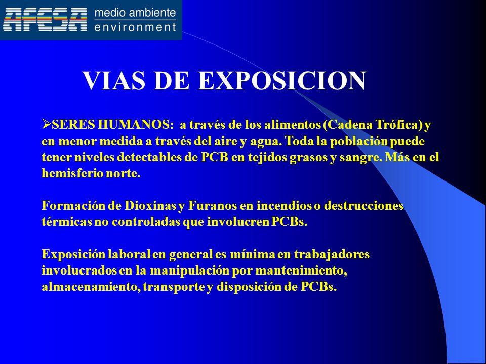 VIAS DE EXPOSICION