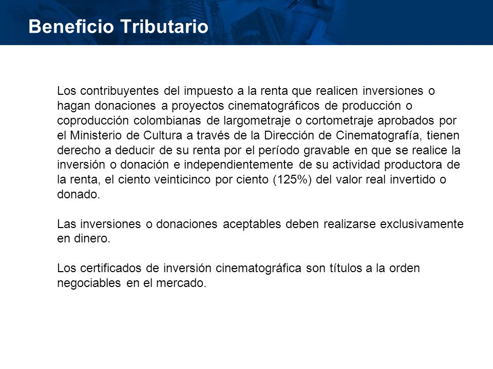Beneficio Tributario