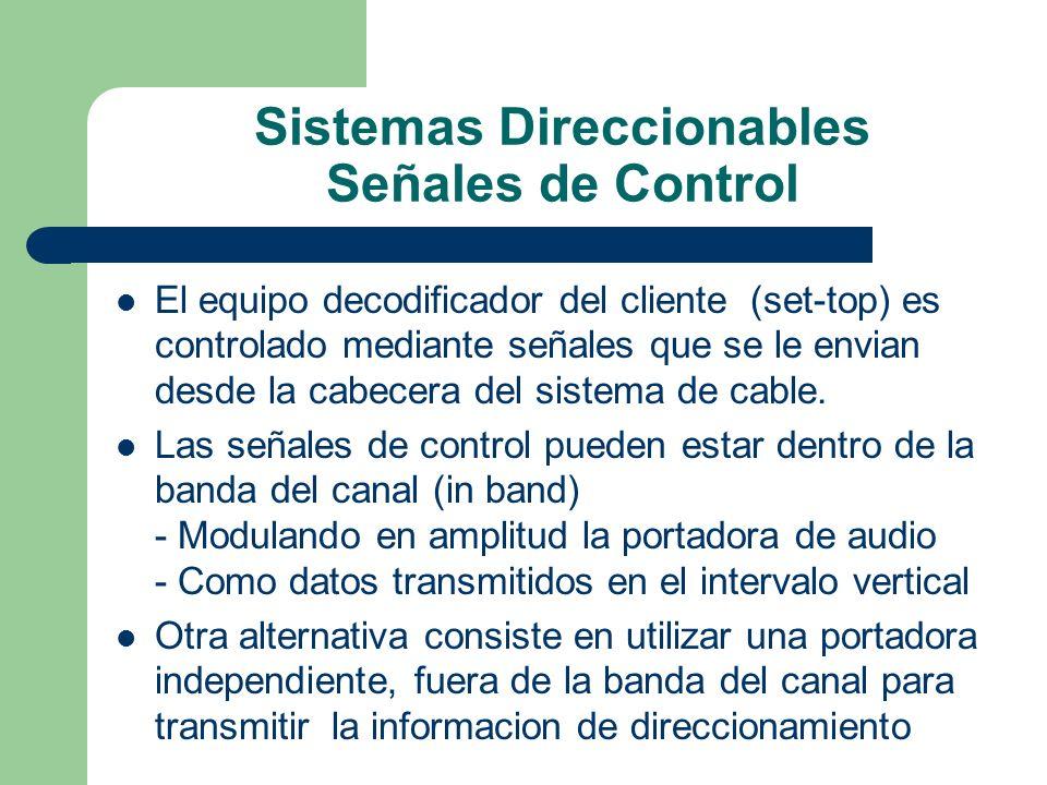 Sistemas Direccionables Señales de Control