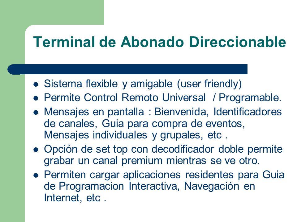 Terminal de Abonado Direccionable