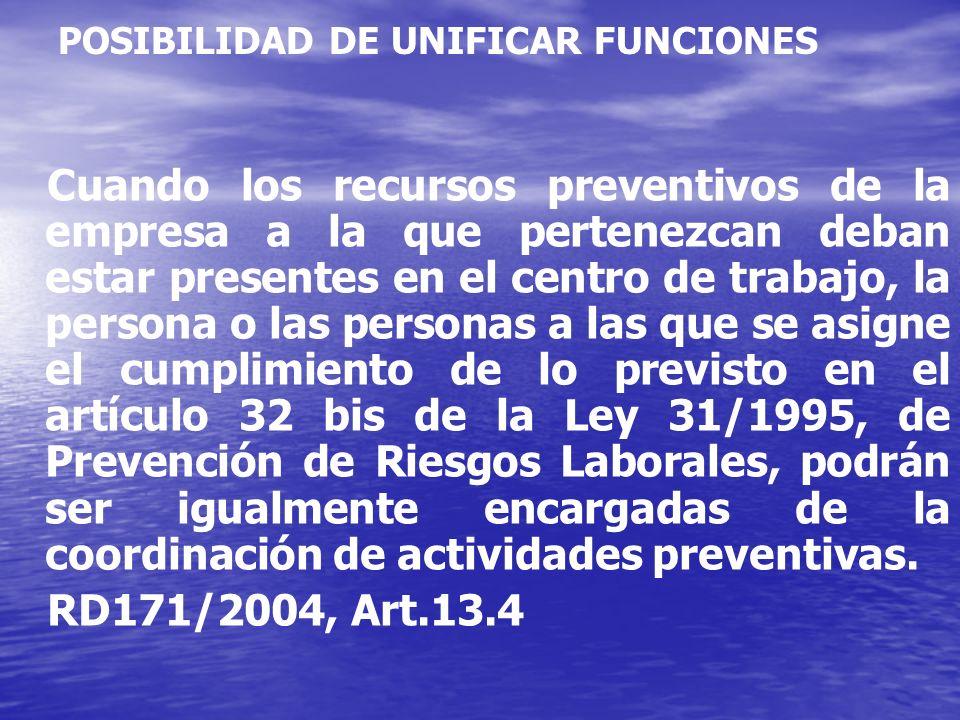 POSIBILIDAD DE UNIFICAR FUNCIONES