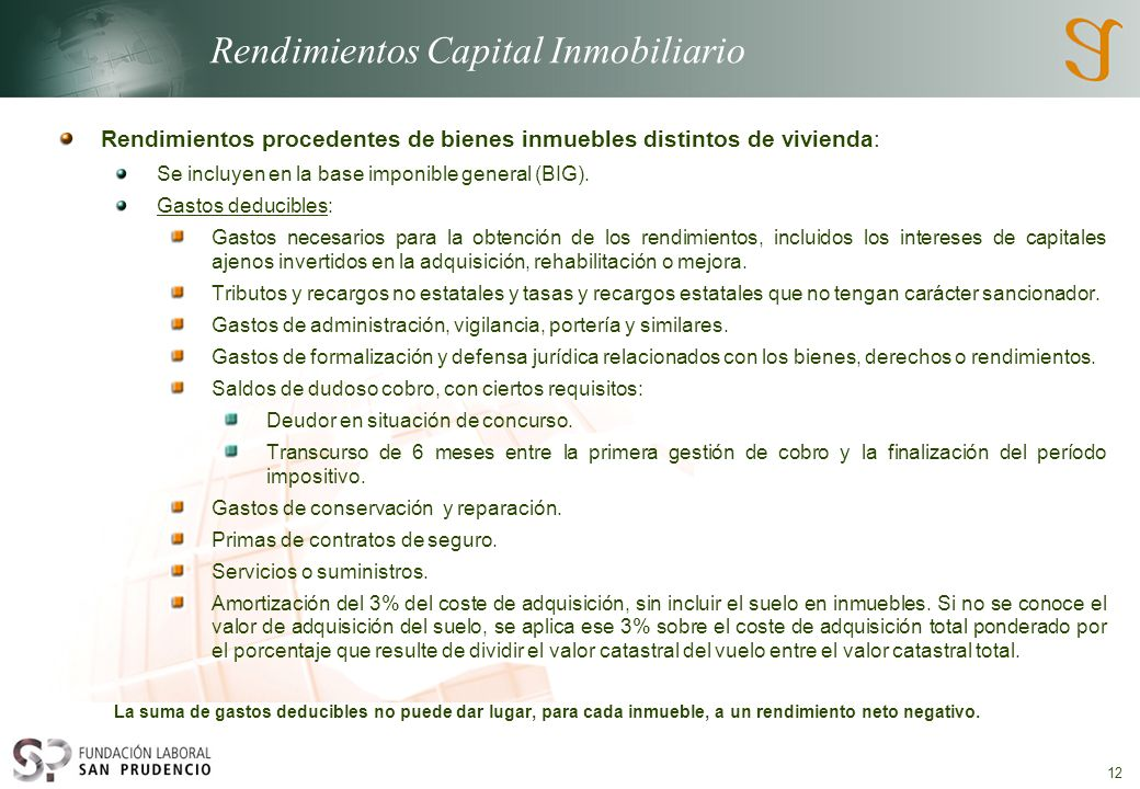 Rendimientos Capital Inmobiliario